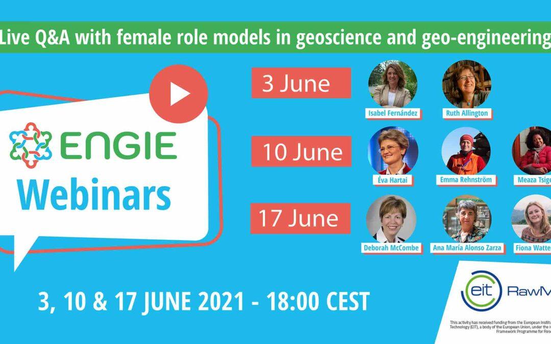 ENGIE Live Q&A Webinars: Meet Female Role Models in Geoscience!